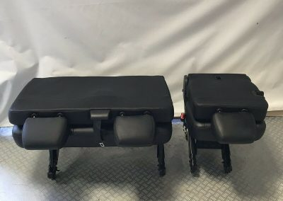 VW T6 T5 Leather Rear Kombi Seats 2 + 1, Seatbelts, Floor Brackets