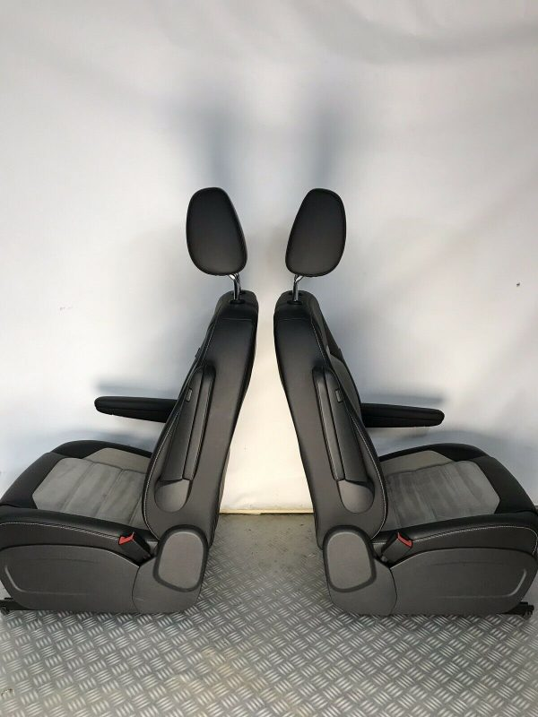 VW T6 T5 Caravelle Heated Leather Alcantara Captains Seats for sale