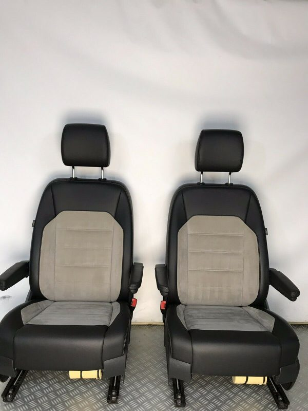 VW T6 T5 Caravelle Heated Leather Alcantara Captains Seats